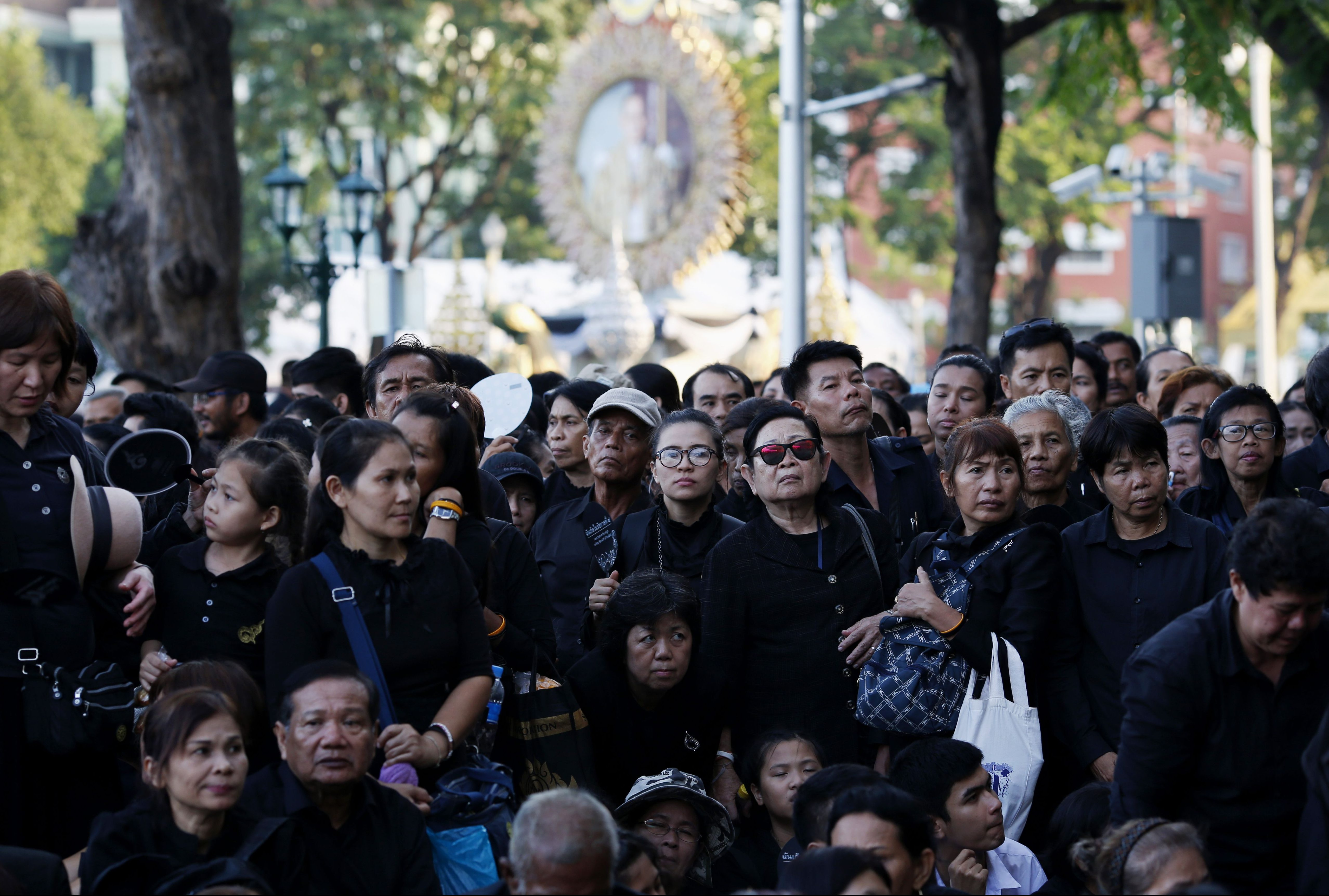 Thai mourners queue up to attend the Royal Cremation ceremony of the late Thai King Bhumibol Adulyadej on Oct. 25.