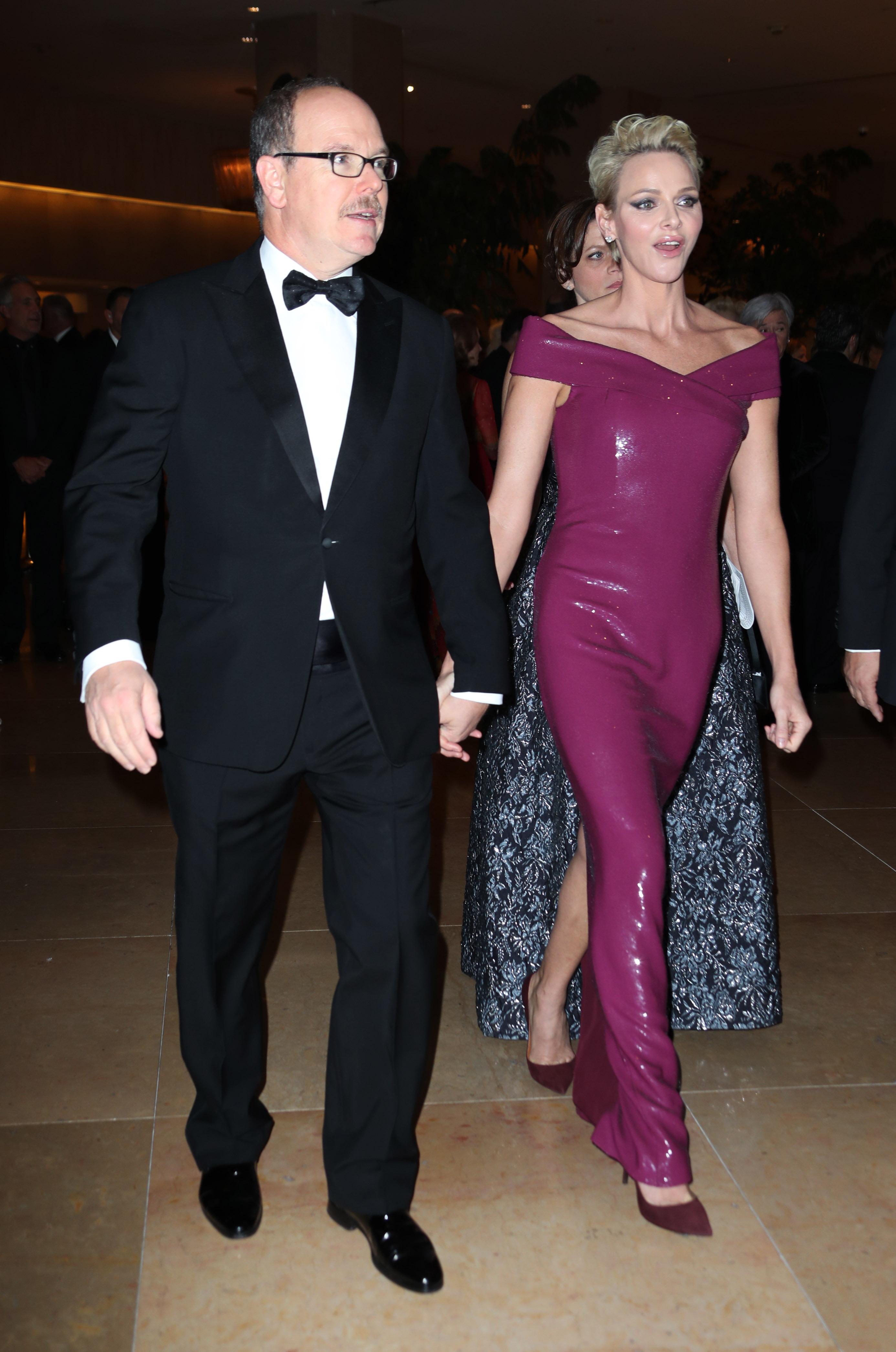 Princess Charlene and Prince Albert II of MonacoPrincess Grace Awards Gala, Arrivals, Los Angeles, USA - 25 Oct 2017