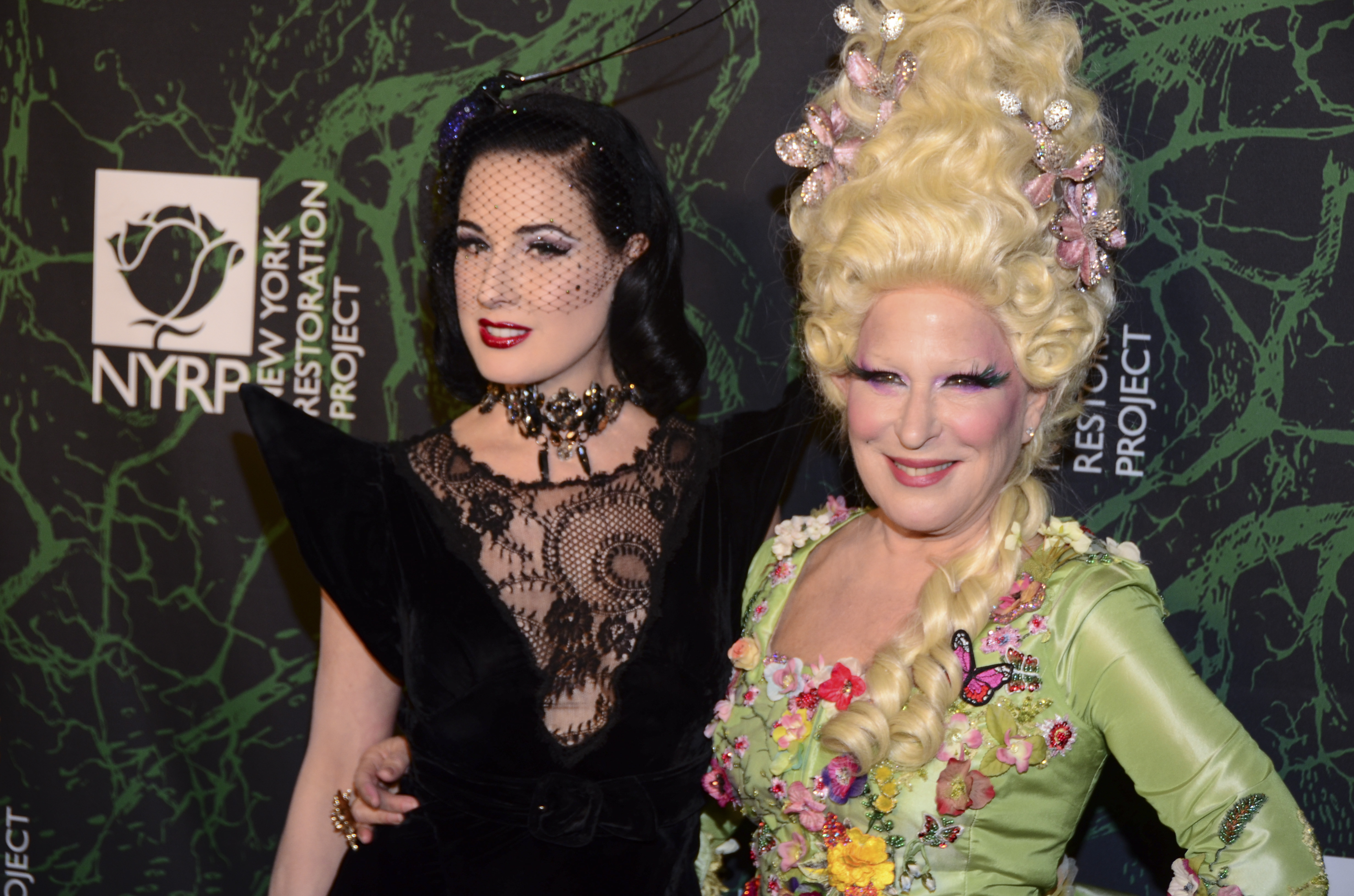 Dita Von Teese, Bette Midler attendBette Midler's Hulaween Party benefiting The New York Restoration Project, Arrivals, New York, USA - 30 Oct 2017