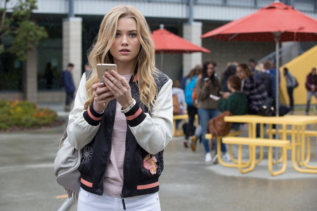 """MARVEL'S RUNAWAYS - """"Pilot"""" - Episode 101 - Every teenager thinks their parents are evil. What if you found out they actually were? MarvelÕs Runaways is the story of six diverse teenagers who can barely stand each other but who must unite against a common foe Ð their parents. The 10-episode series premieres Tuesday, November 21st. The series stars Rhenzy Feliz, Lyrica Okano, Virginia Gardner, Ariela Barer, Gregg Sulkin, Allegra Acosta, Annie Wersching, Ryan Sands, Angel Parker, Ever Carradine, James Marsters, Kevin Weisman, Brigid Brannah, James Yaegashi, Brittany Ishibashi, and Kip Pardue. Karolina Dean (Virginia Gardner), shown. (Photo by: Paul Sarkis/Hulu)"""