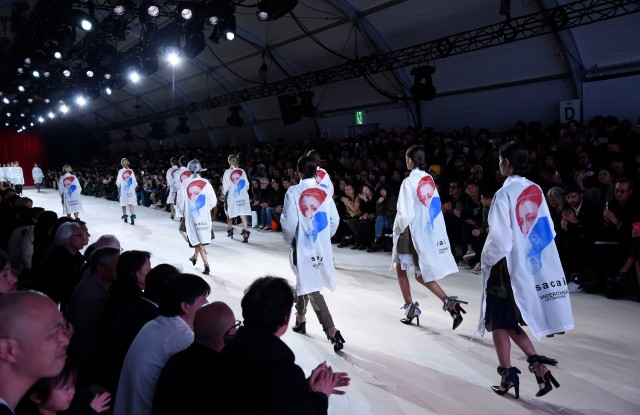 The Sacai and Undercover joint show in Tokyo.