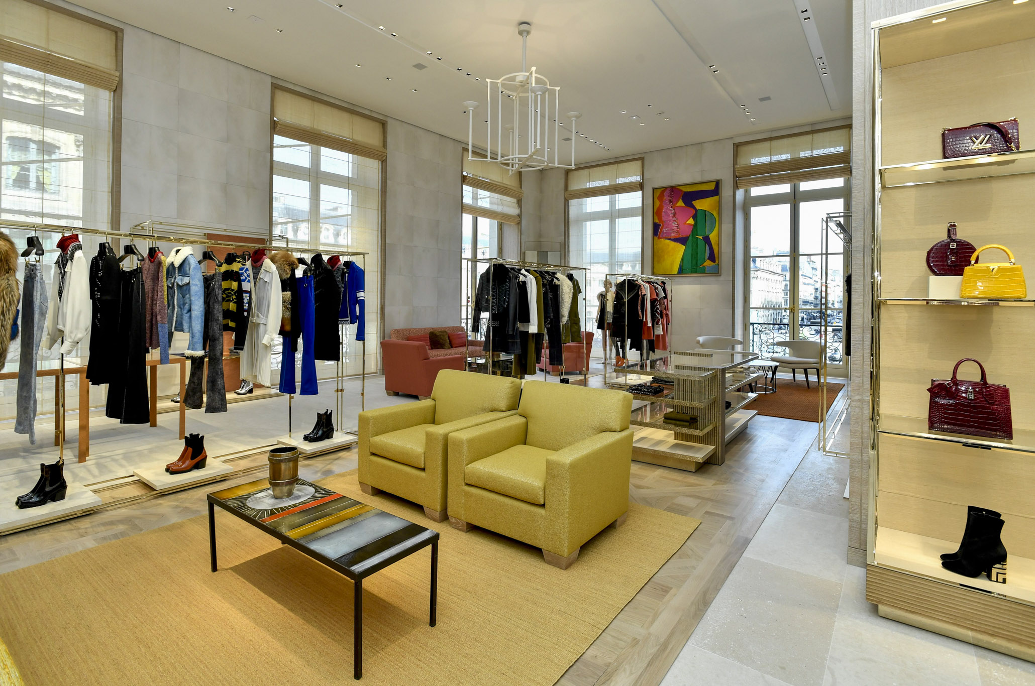 The women's department in the LV flagship on Place Vendôme