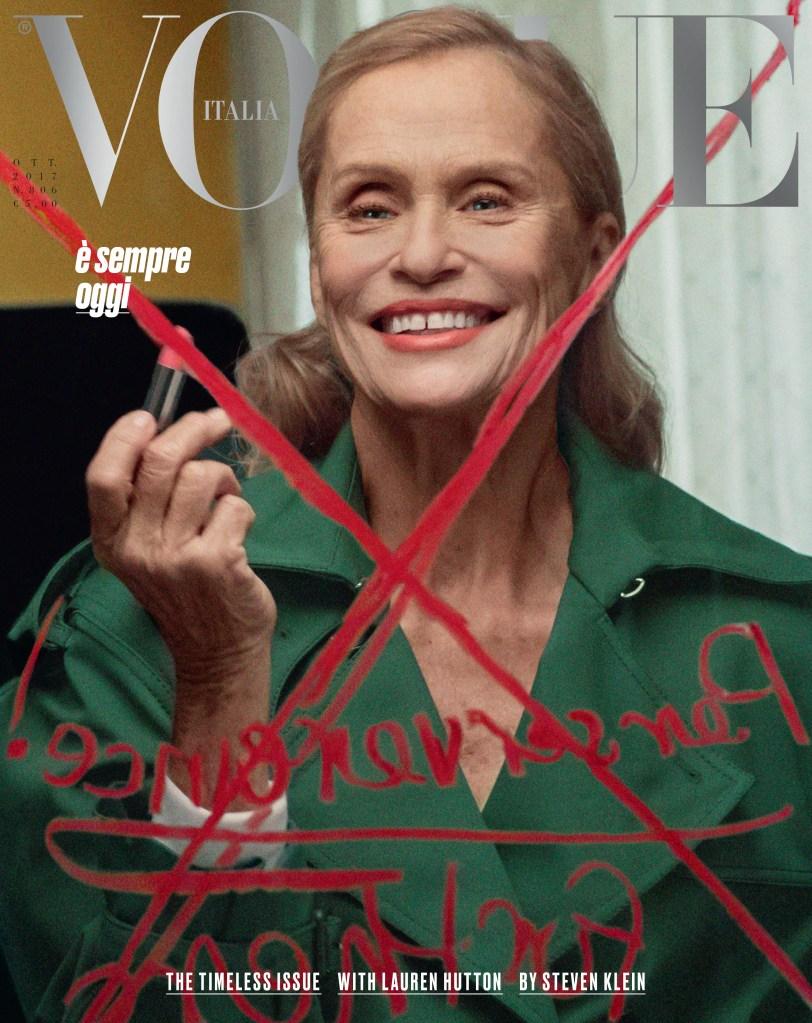 Lauren Hutton Vogue Italia