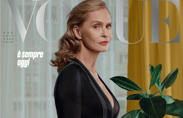 Lauren Hutton on Vogue Italia