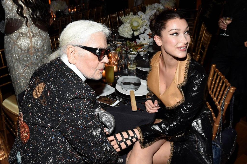 Karl Lagerfeld, Bella HadidV Magazine dinner in honor of Karl Lagerfeld, New York, USA - 23 Oct 2017