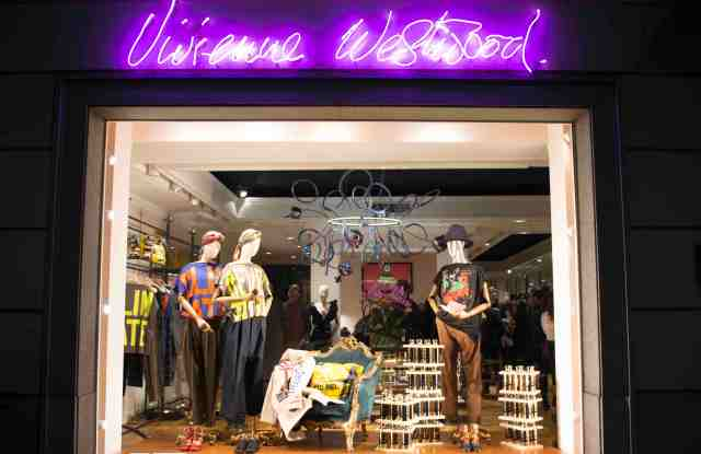 Vivienne Westwood's Milan shop dislaying the reusable bottle.