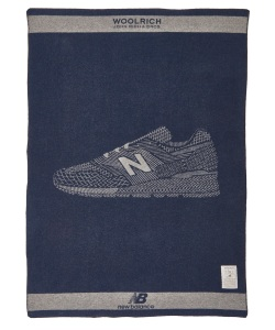 The blanket from the Woolrich New Balance capsule.