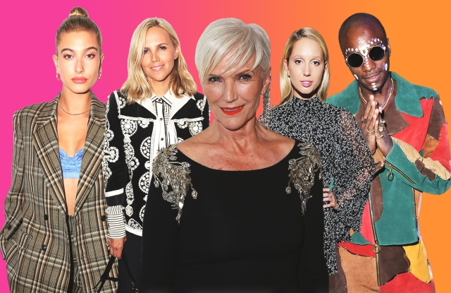Hailey Baldwin, Tory Burch, Maye Musk, Princess Olympia of Greece, Young Paris