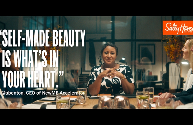 A still from the Self-Made Beauty Campaign