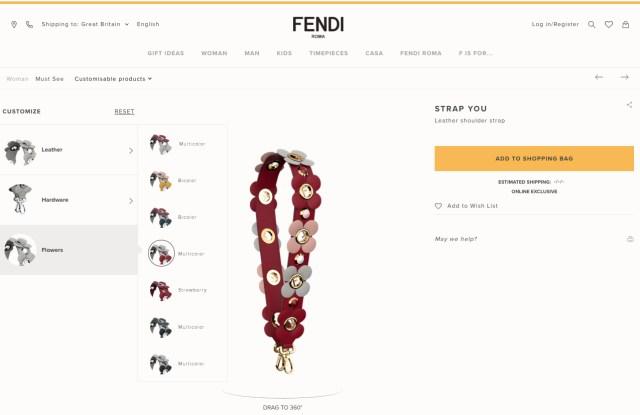 "Fendi ""Customize It"" Online Personalization Service"