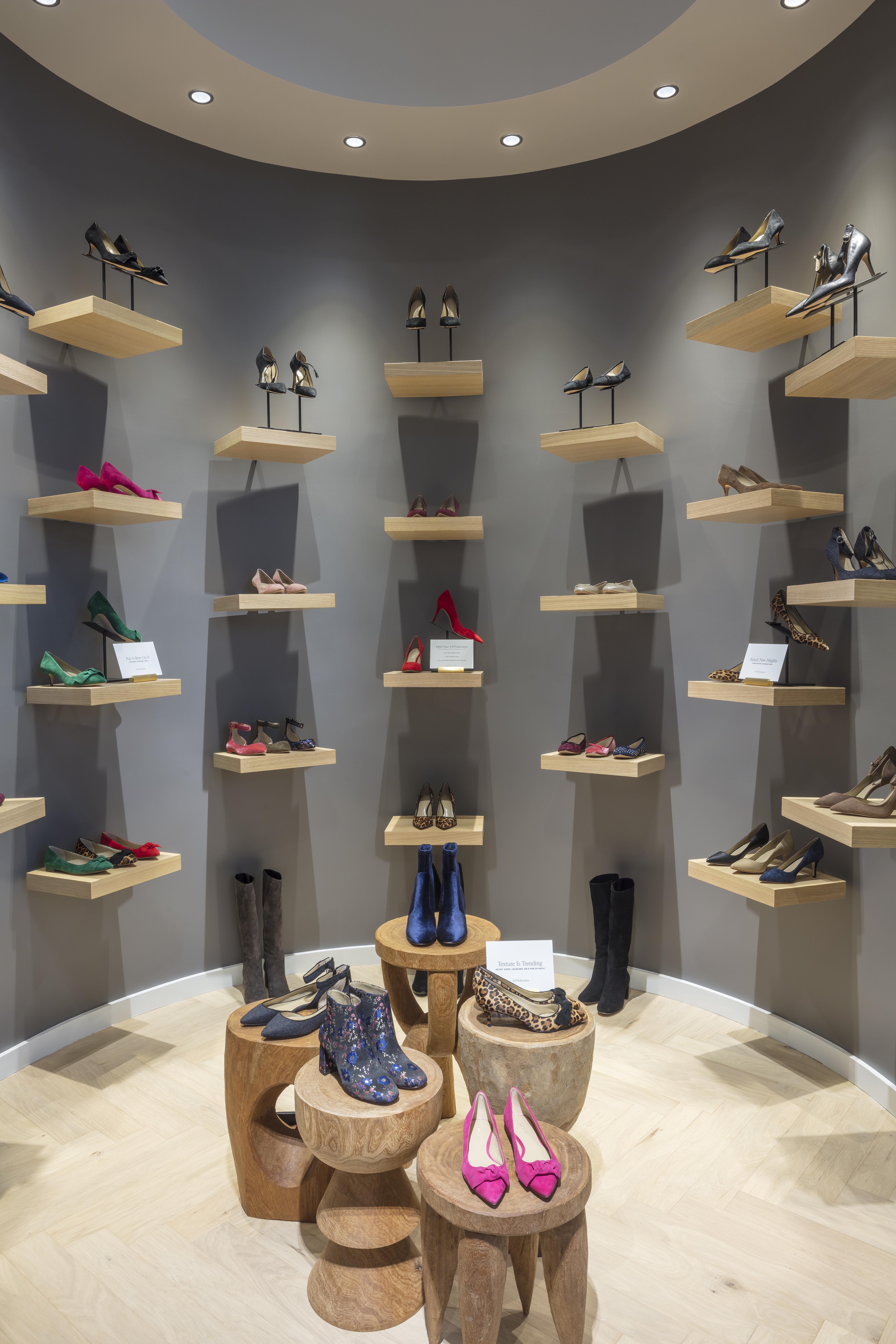 Ann Taylor shoe showroom
