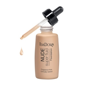 Isadora; Face; Foundation; 1142NudeSuperFluidFoundation; 1142 Nude Super Fluid Foundation; 1142NudeFluidFoundation; 1142 Nude Fluid Foundation; 1142NudeSensationFluidFoundation; 1142 Nude Sensation Fluid Foundation; 114212; 12NudeSand; 12 Nude Sand; 7317851142128; 30ml; pipett; pipette; Beige