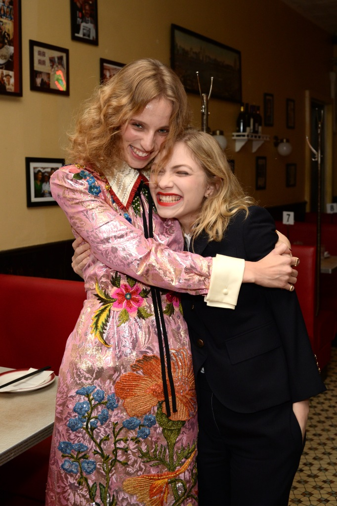 NEW YORK, NY - NOVEMBER 28: Artist Petra Collins and Tavi Gevinson attend the release of Petra Collins: Coming of Age hosted by Gucci on November 28, 2017 in New York City. (Photo by Andrew Toth/Getty Images for GUCCI)