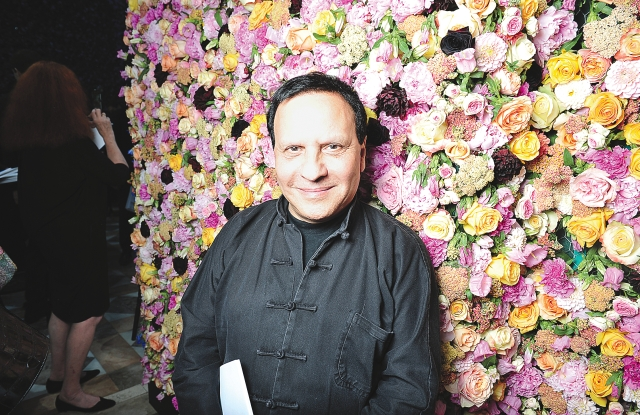 Azzedine Alaia attends Raf Simons debut collection for Jil Sanders Couture fall 2012 show.