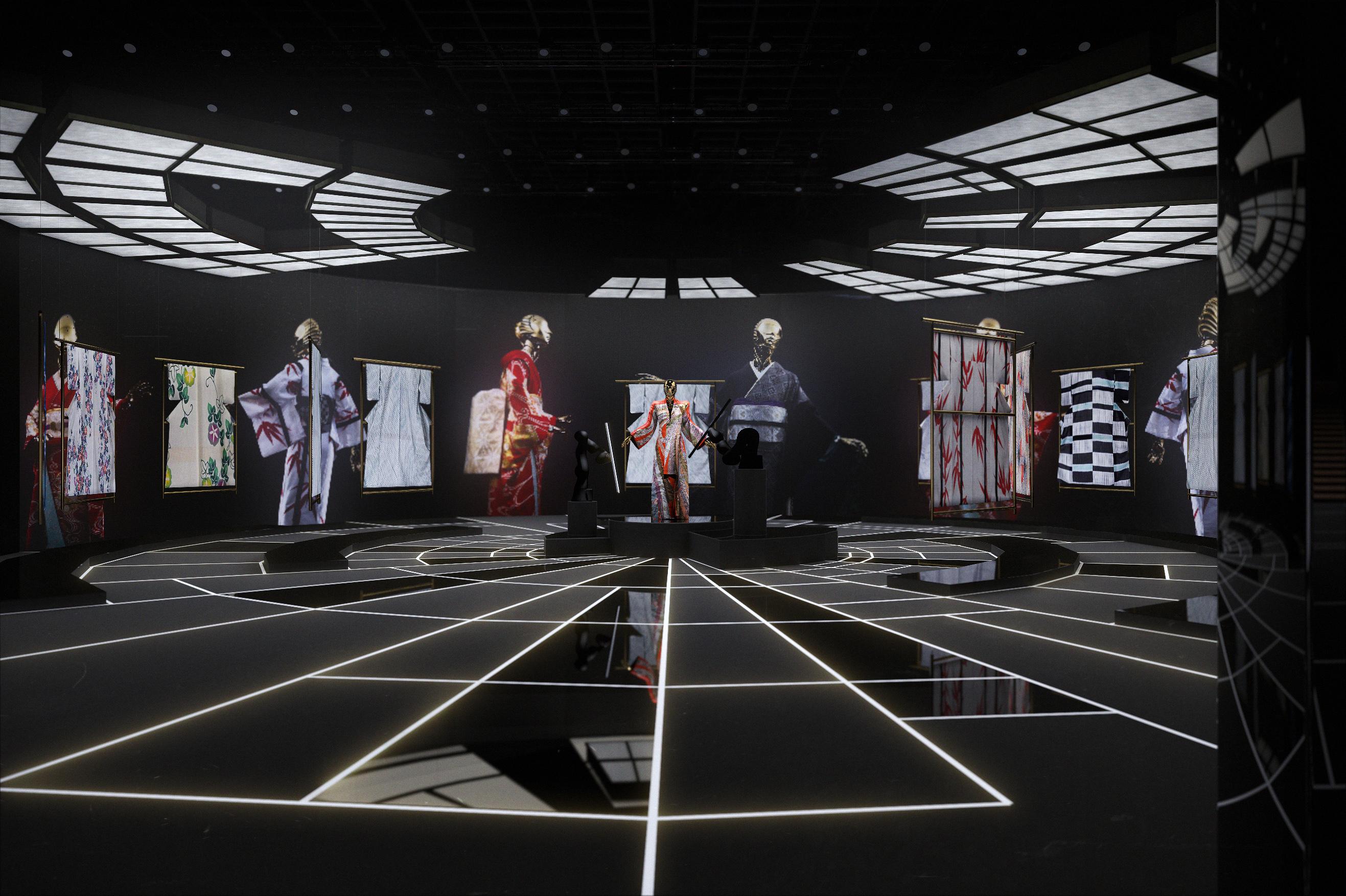Kimono Roboto exhibit Tokyo