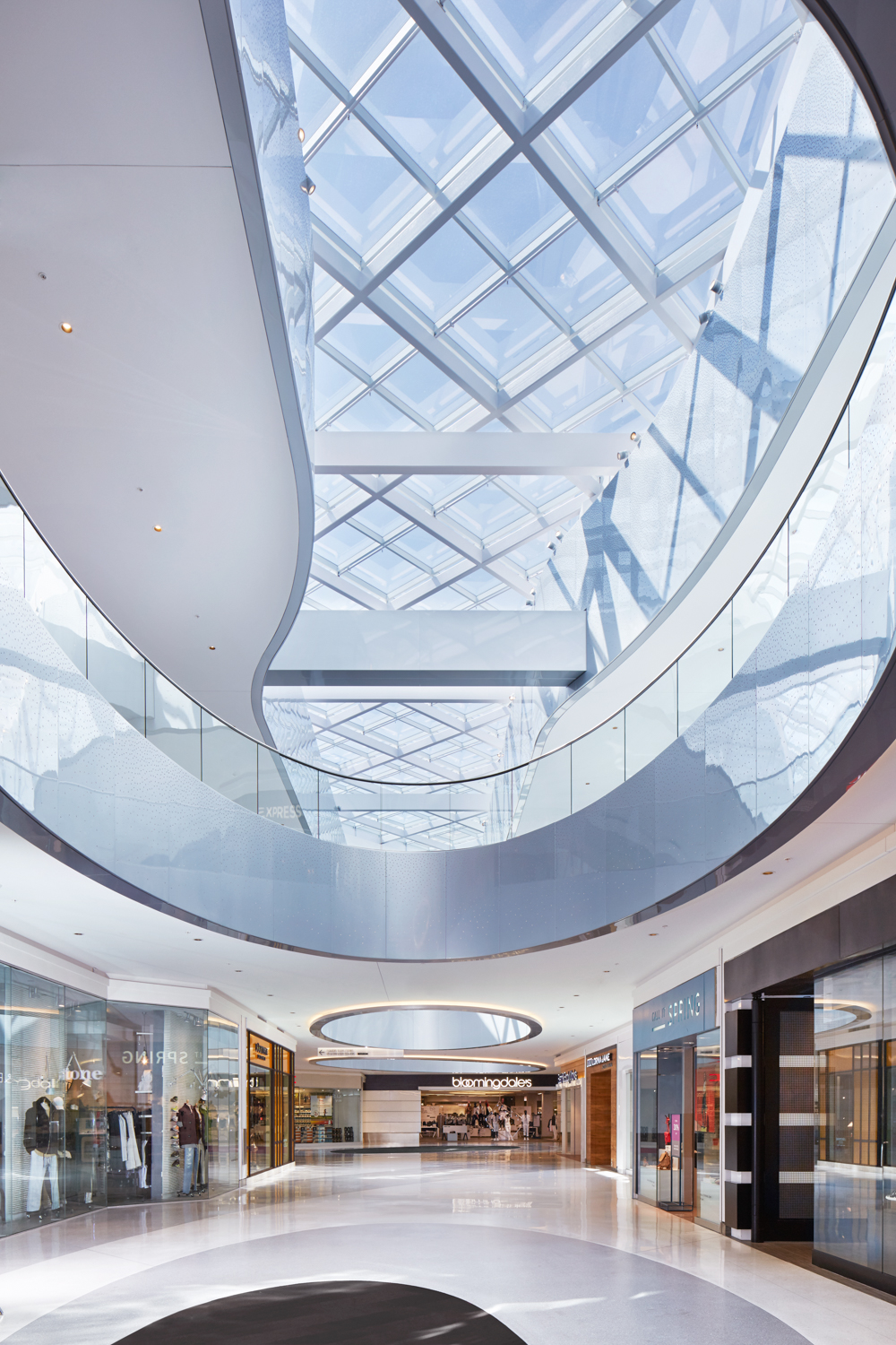 The Beverly Center's newly-renovated Bloomingdale's wing.