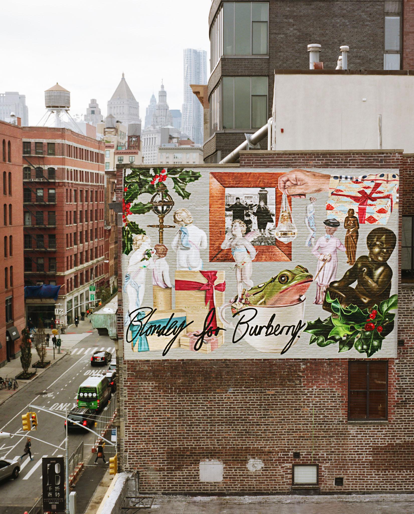 Blondey McCoy unveils three Burberry murals in Manhattan.