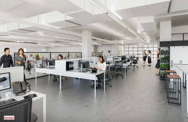 Rendering of Lafayette 148 New York headquarters in the Brooklyn Navy Yard being designed by Gensler