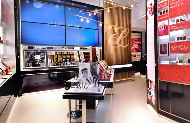 Estée Lauder store in Milan.