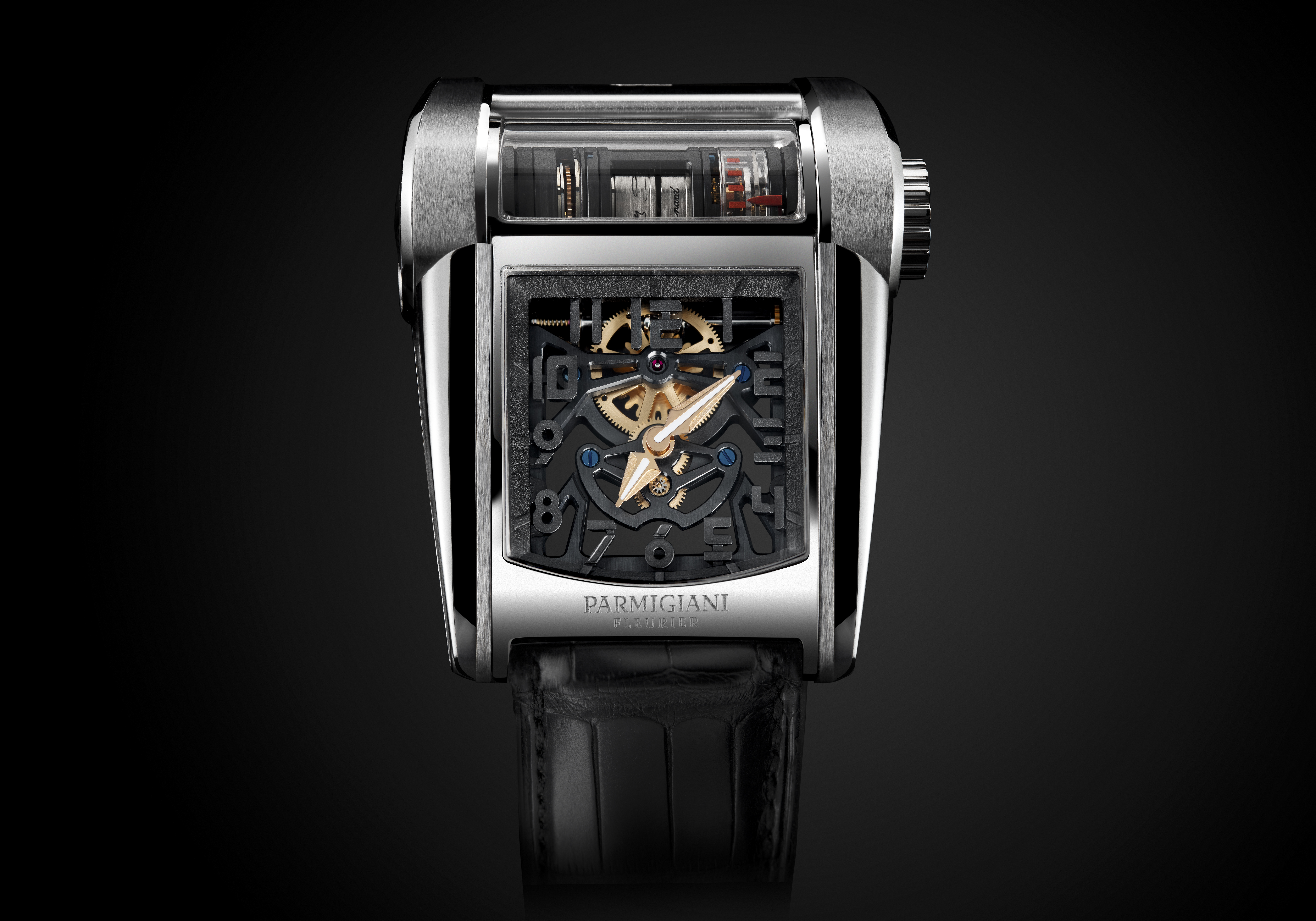 The Parmigiani Fleurier Bugatti Type 390 watch.