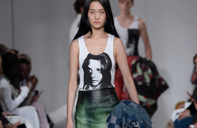 Calvin Klein began its partnership with Andy Warhol with the spring 2018 205W39NYC collection.