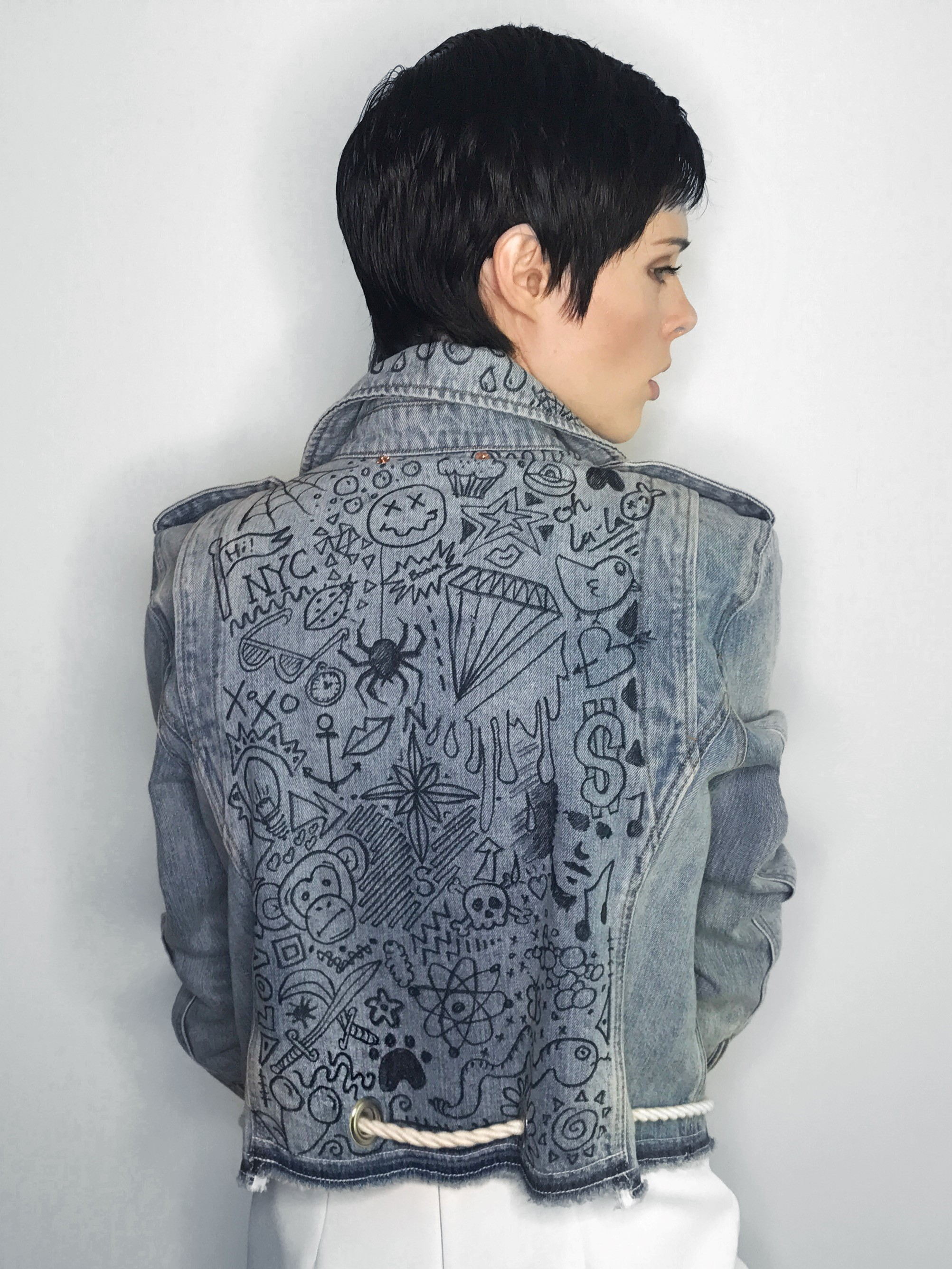 Coco Rocha's customised denim jacket