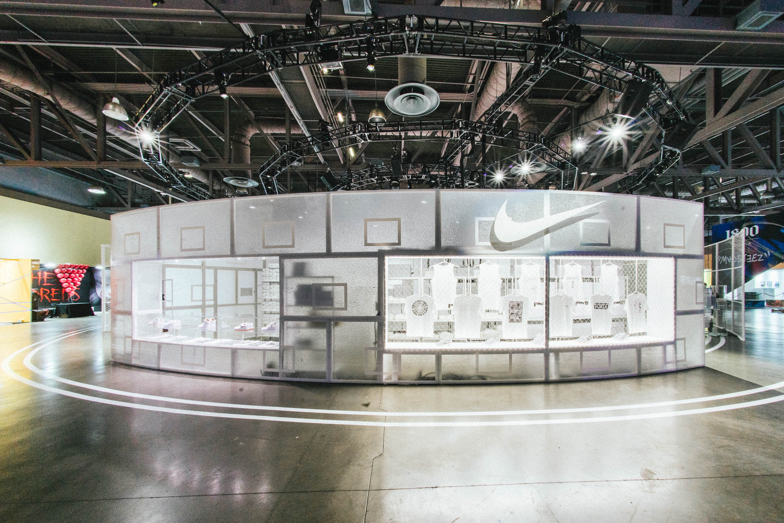 The Nike booth at ComplexCon.