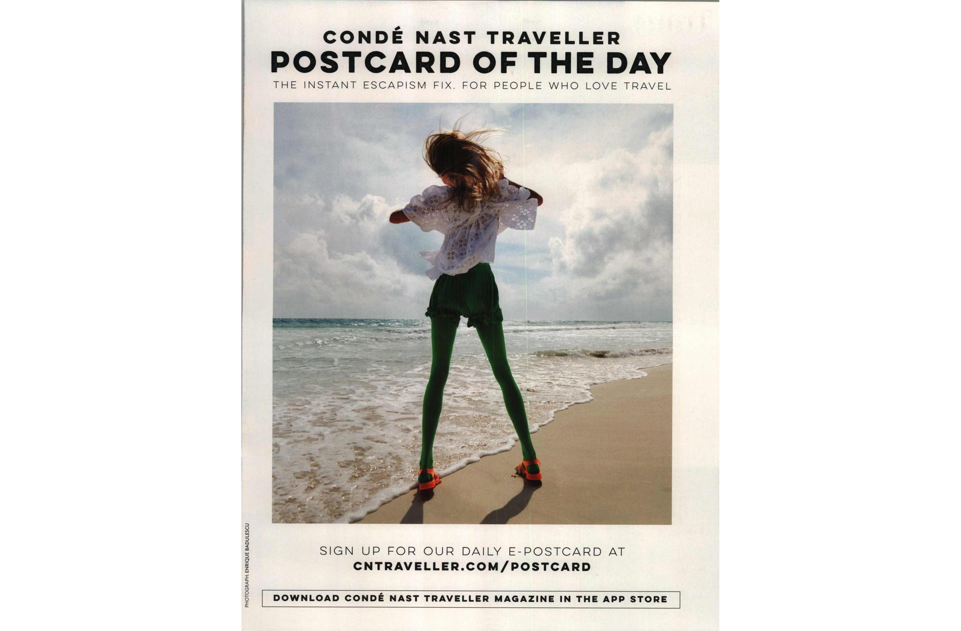 An advertisement for Condé Nast Traveller
