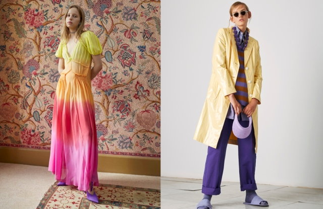 Looks from Attico end The Gigi spring 2018 collections