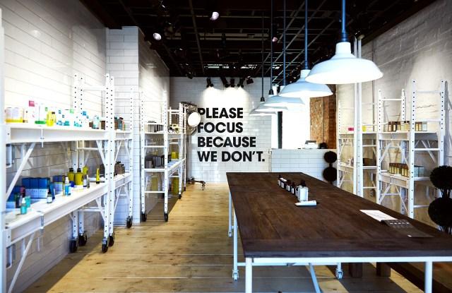 Inside a Deciem store.