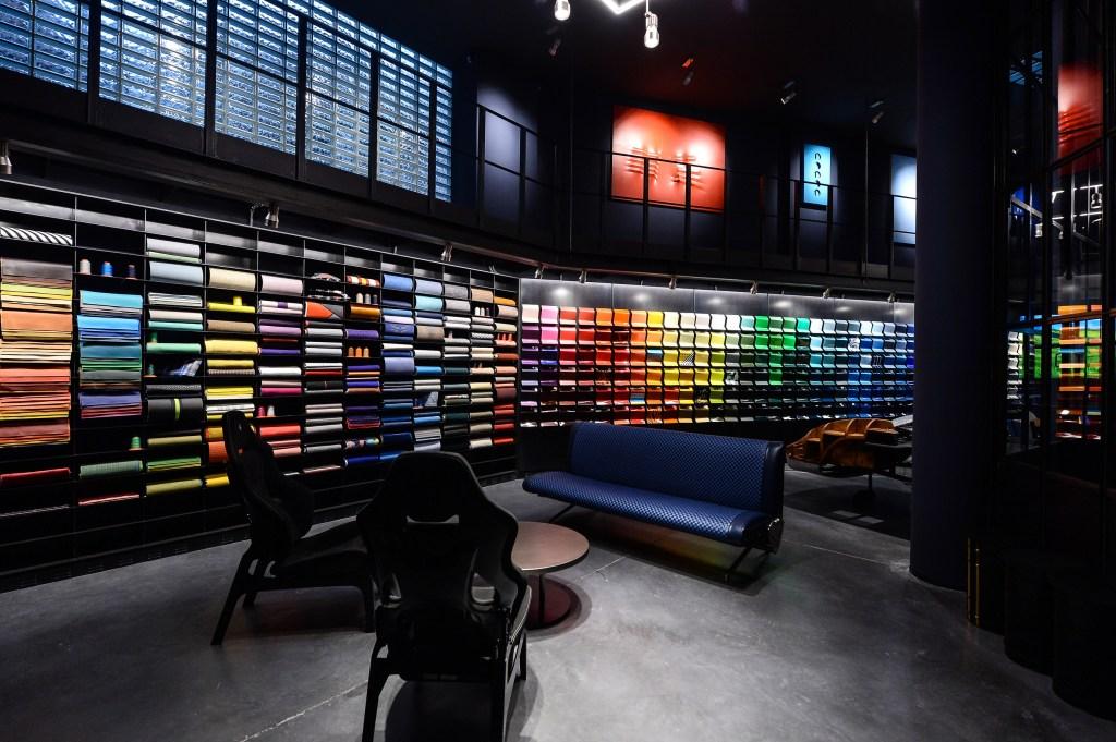"""The """"Materioteca"""" at Garage Italia's headquarters"""