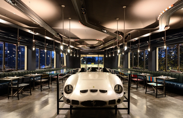 Carlo Cracco's restaurant at Garage Italia's headquarters