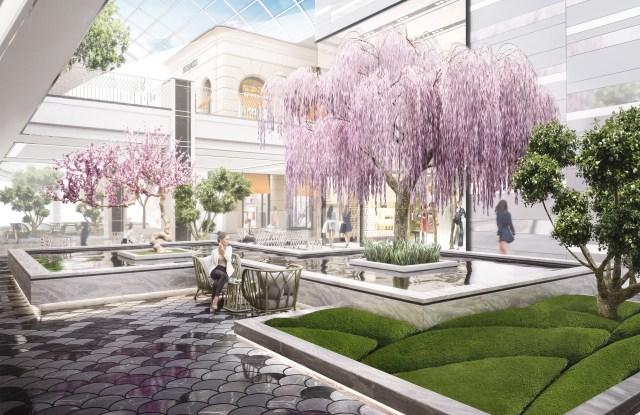 A rendering of American Dream's Asian garden.
