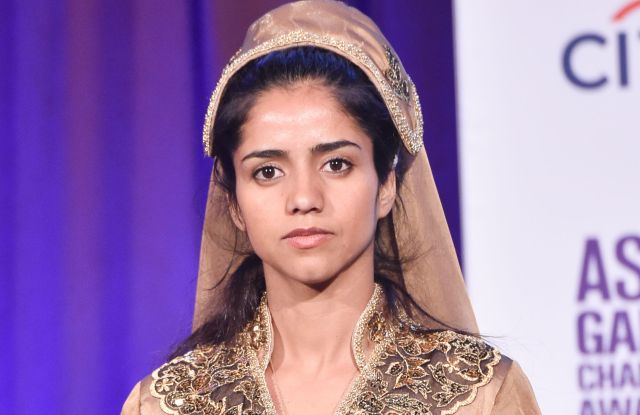 Sonita Alizadeh at the Asia Society's Game Changer Awards in New York.