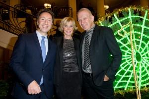 Jean Paul Gaultier with Marie-Christiane Marek and Stéphane Bern.