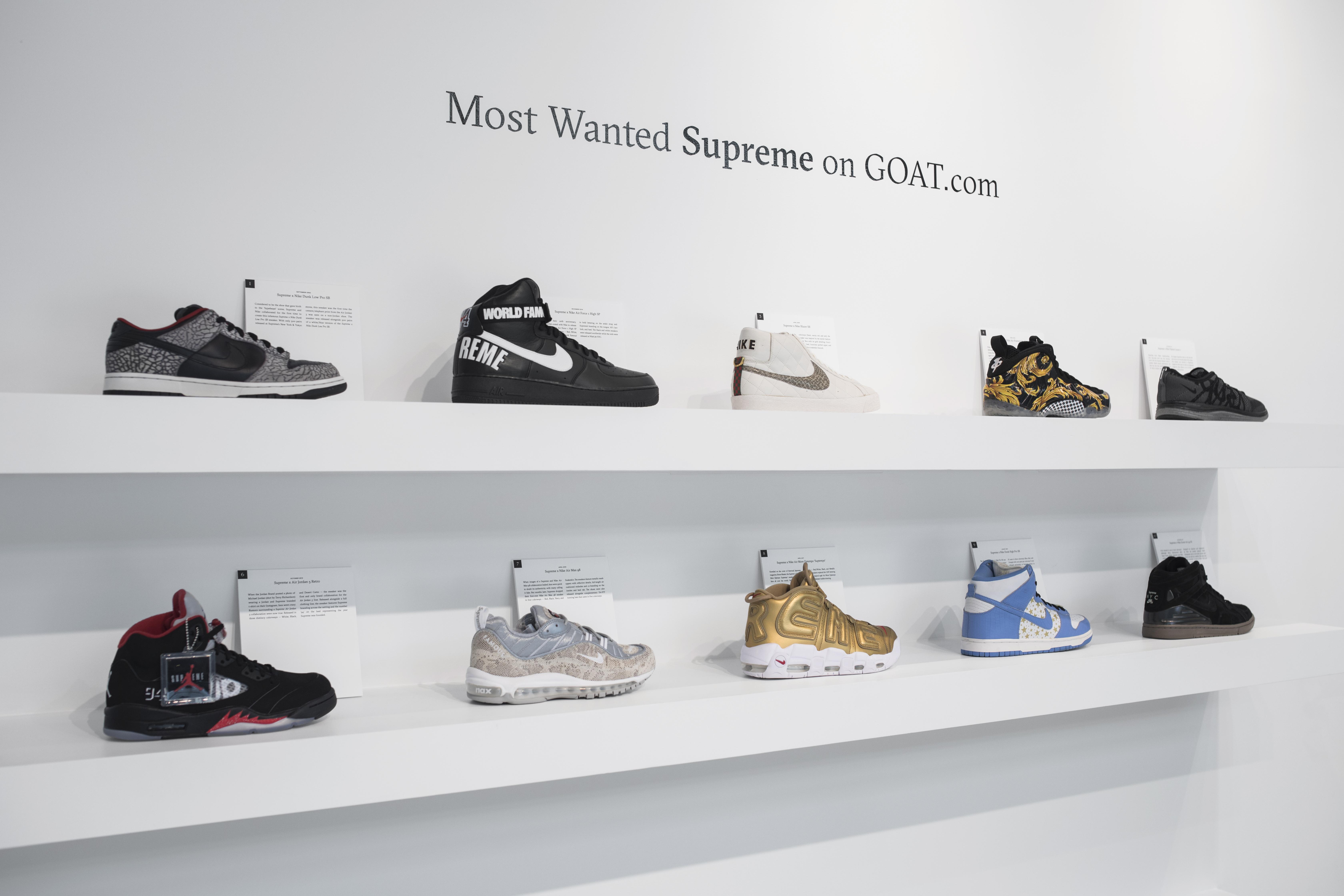 Sneaker Reseller Goat's Pop-up Exhibit