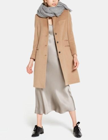 goop label camel coat in cashmere