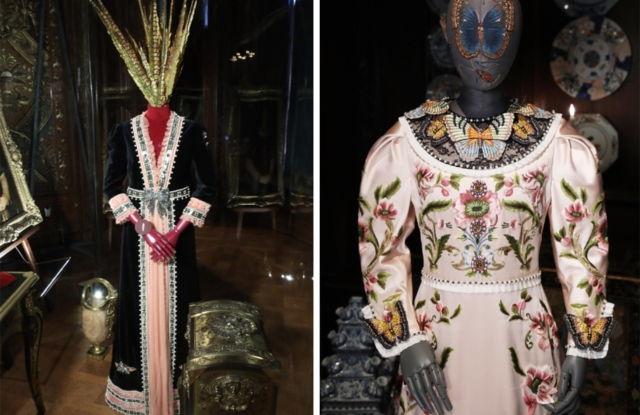 Gucci dresses at the Chatsworth exhibition