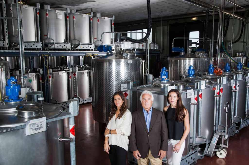 Giorgia, Roberto and Ambra Martone at the ICR plant in Lodi, Italy.