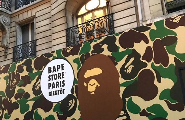 The Bape store in Paris