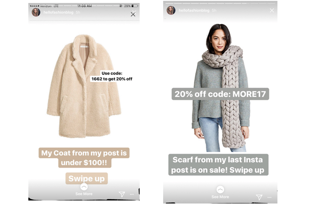 Andrew linked to the items in the above picture on her Instagram Stories on Black Friday.