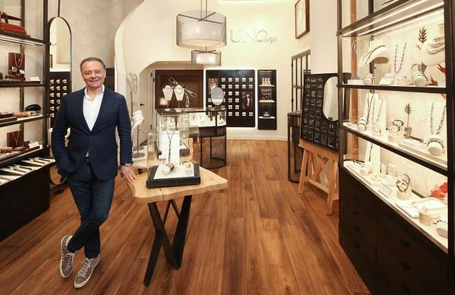 Jose Azulay in Unode50's new Studio concept store in SoHo.