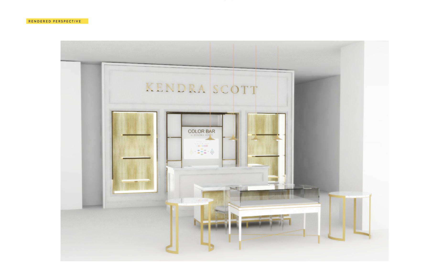A rendering of Kendra Scott's shop-in-shop at Selfridges