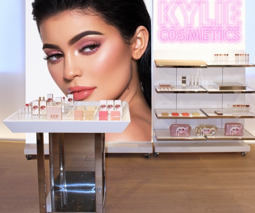 A Kylie Cosmetics pop-up in Topshop.