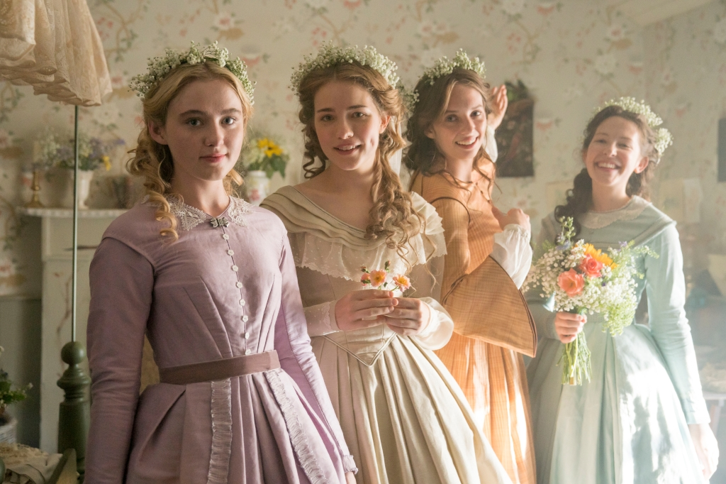 Little WomenMASTERPIECE on PBS Shown (Left-Right): Kathryn Newton as Amy, Willa Fitzgerald as Meg, Maya Hawke as Jo, and Annes Elwy as Beth. Little Women has been commissioned by Piers Wenger and Charlotte Moore at the BBC, and is produced by Playground (Wolf Hall, Howards End) for BBC One. The series is a co-production with MASTERPIECE on PBS. The producer is Susie Liggat. Executive producers are Colin Callender and Sophie Gardiner for Playground, Heidi Thomas, Lucy Richer for the BBC and Rebecca Eaton for Masterpiece. Lionsgate will manage worldwide distribution excluding US and UK. Photo courtesy of MASTERPIECE on PBS, BBC and Playground.