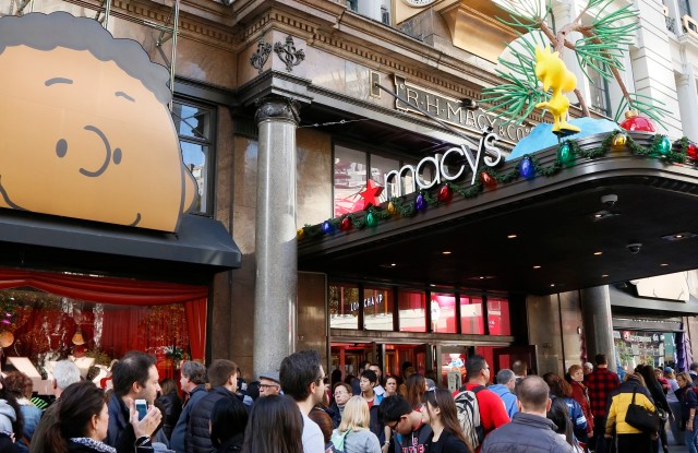 Macy's New York City on Black Friday, 2015.