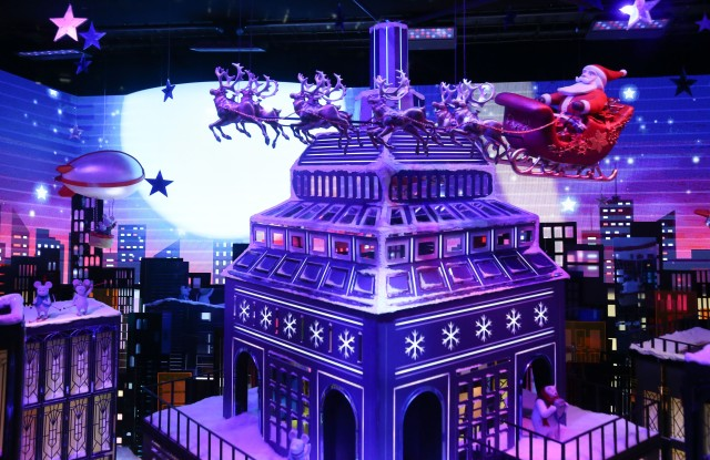 Macy's unveils Christmas windows that celebrate New York City.