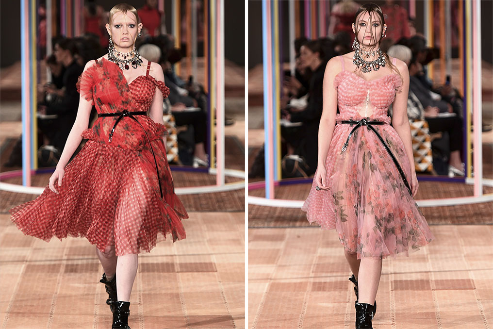 Loos from Alexander McQueen RTW Spring 2018.