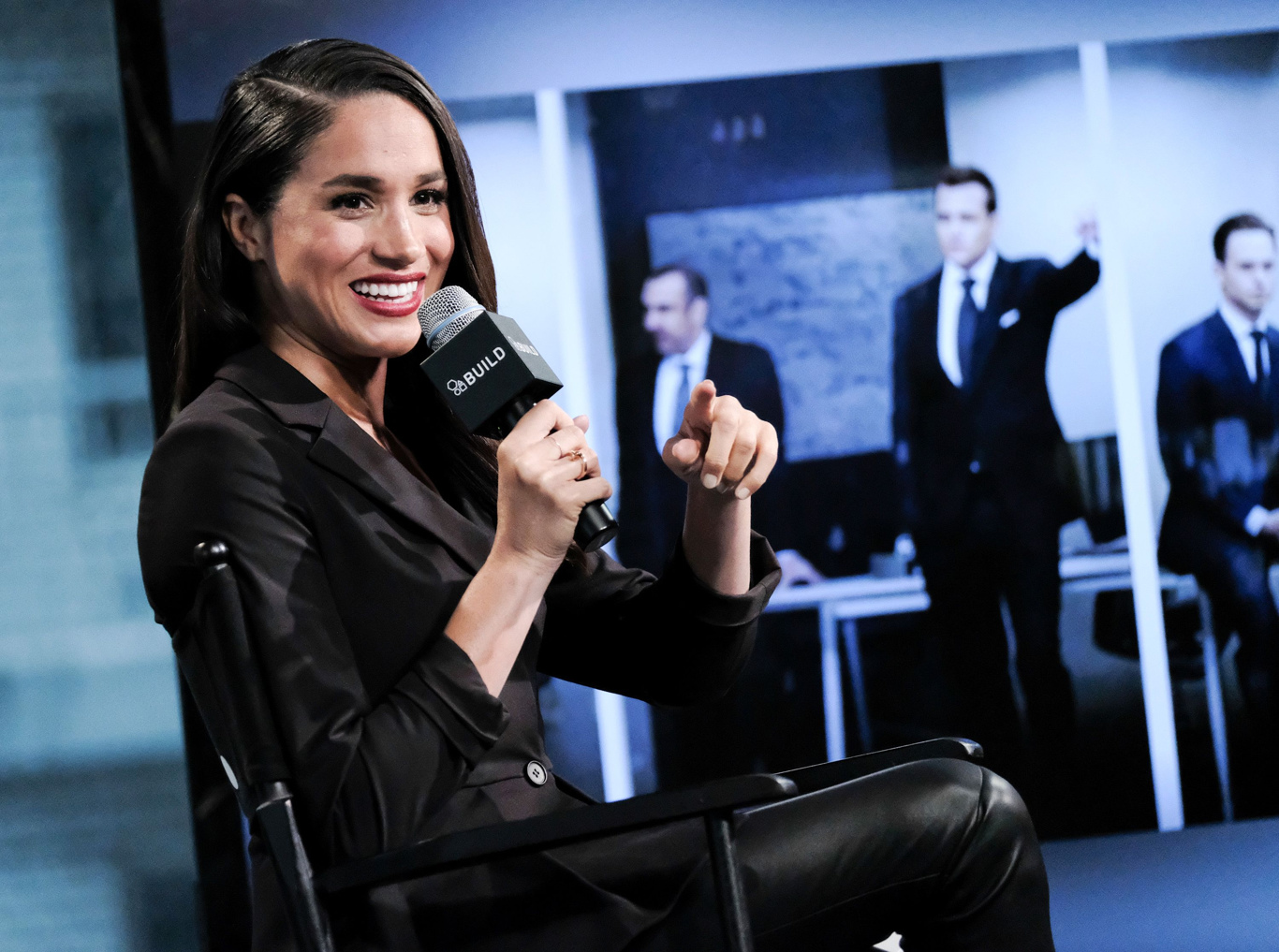 "Actress Meghan Markle participates in AOL's BUILD Speaker Series to discuss her role on the television show, ""Suits"", at AOL Studios, in New YorkAOL BUILD Speaker Series: Meghan Markle, New York, USA"