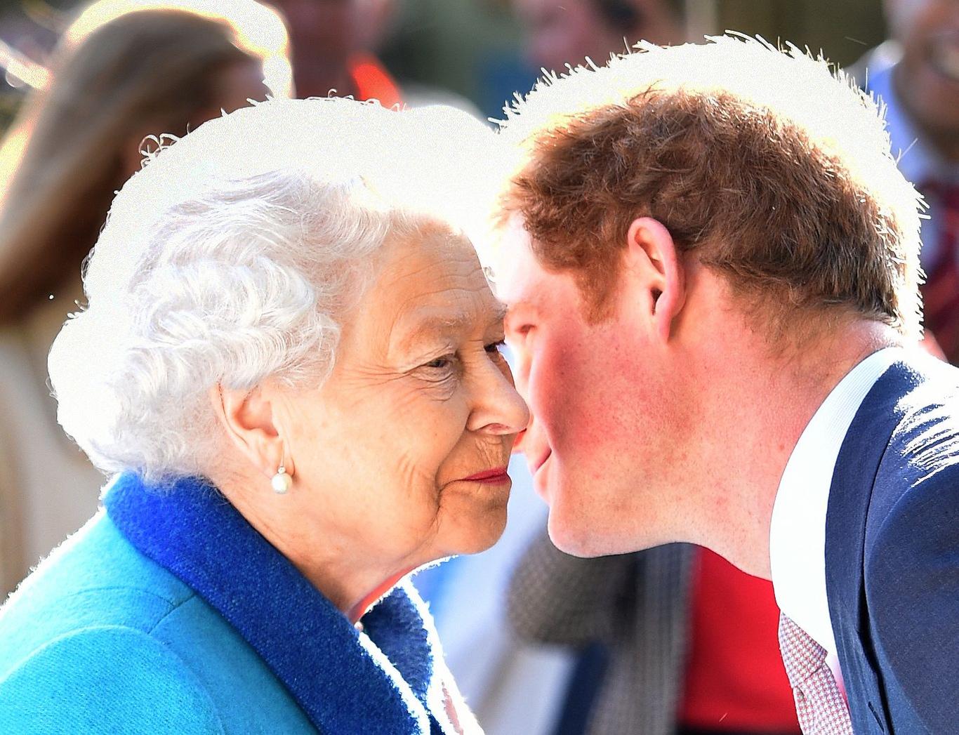 Queen Elizabeth II and Prince HarryRHS Chelsea Flower Show, London, Britain - 18 May 2015